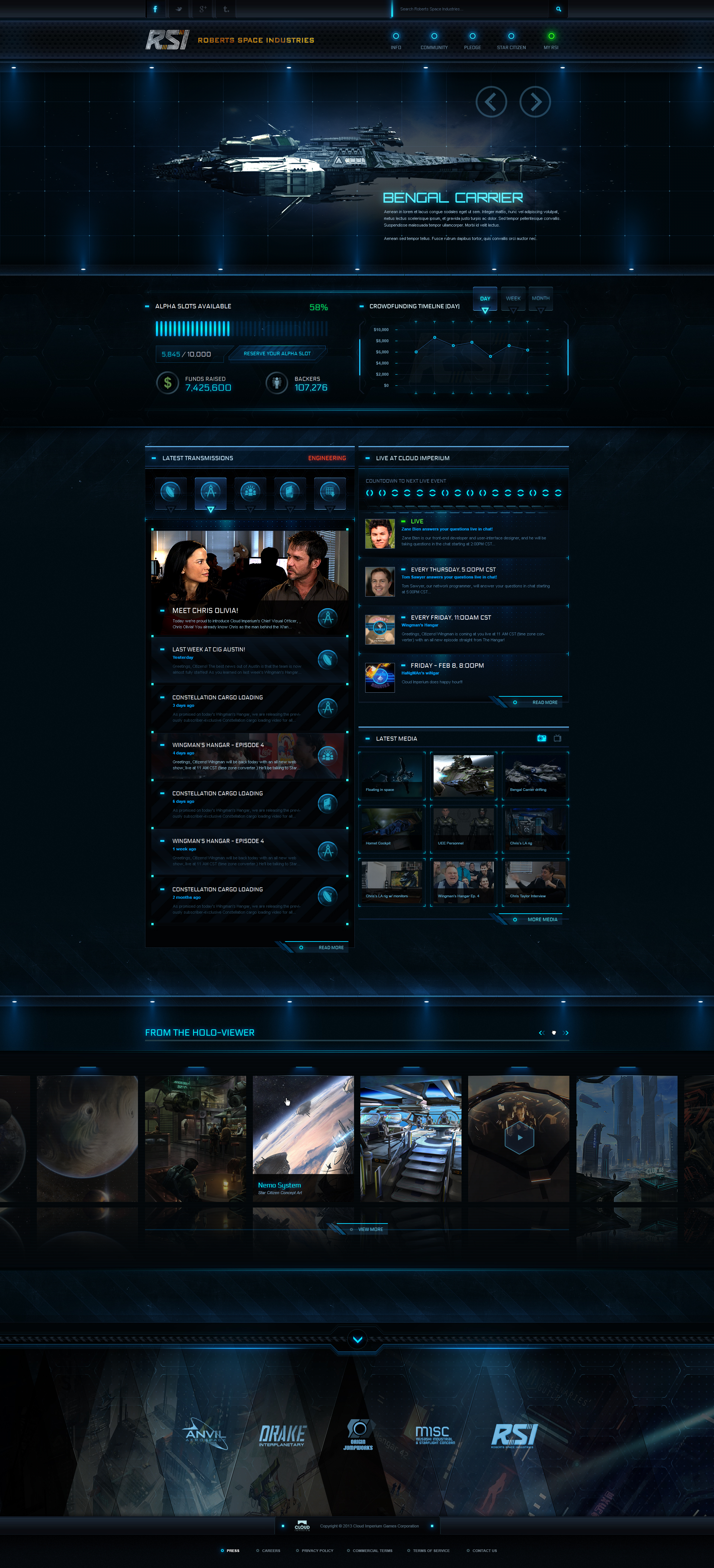 RSI Homepage